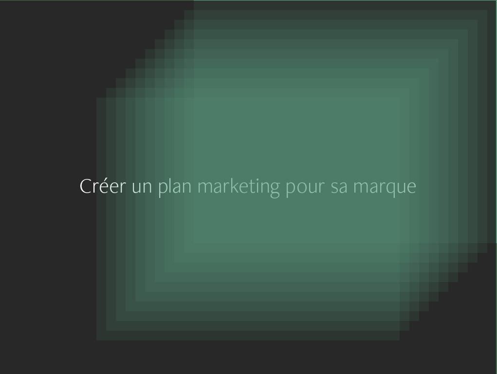 Créer plan marketing pour sa marque